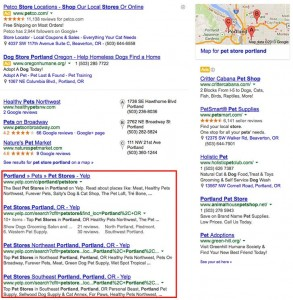 Hummingbird local search result