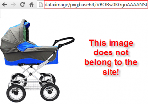 base64 image found on the site