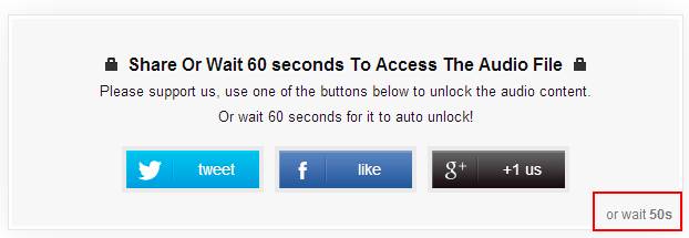 auto unlock social content locker feature