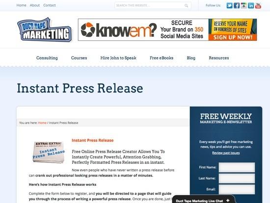 Instant Press Release