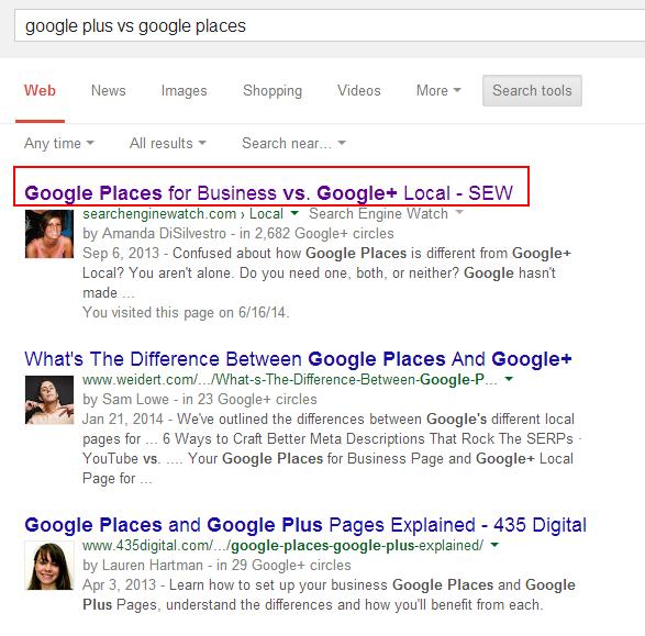 confusing Google places title