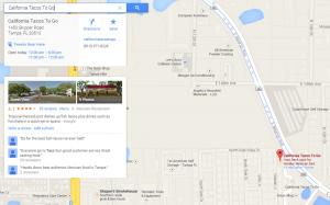 Google map location details
