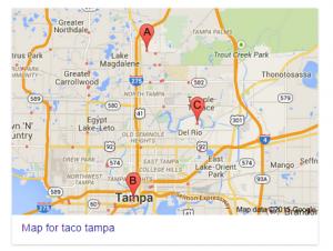 SEO google map results