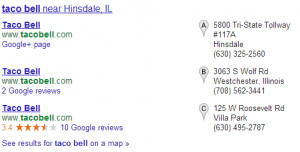 SEO local near results pack