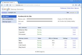 sitemap generator by google