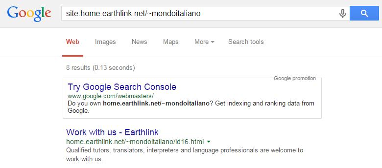 site home.earthlink.net mondoitaliano Google Search