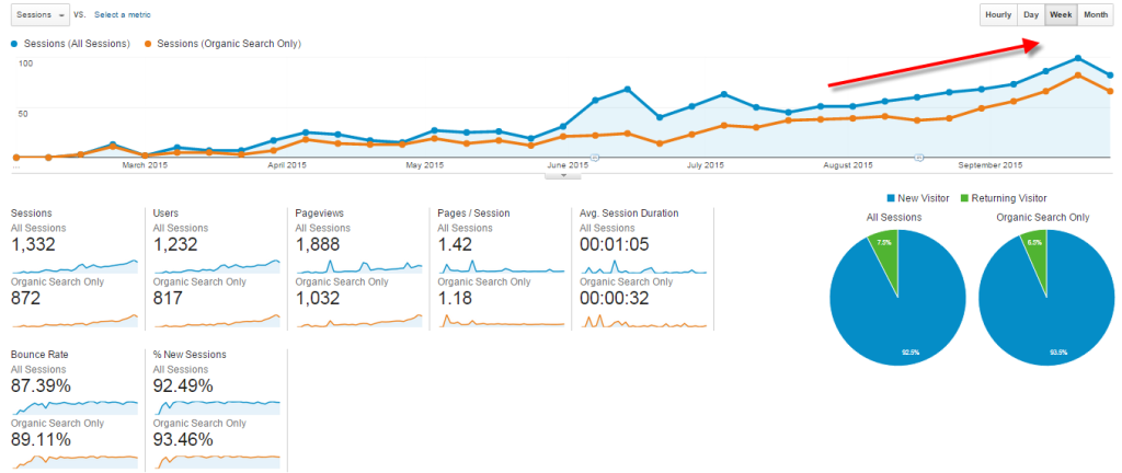 New website traffic