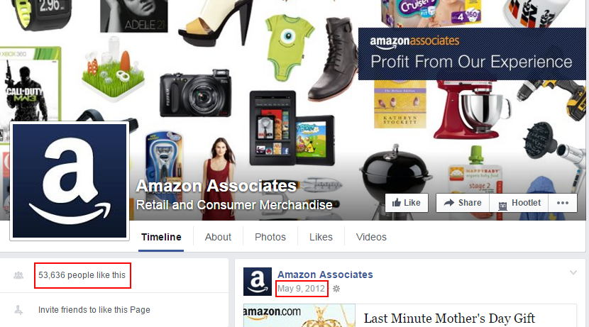 amazon associate group on facebook