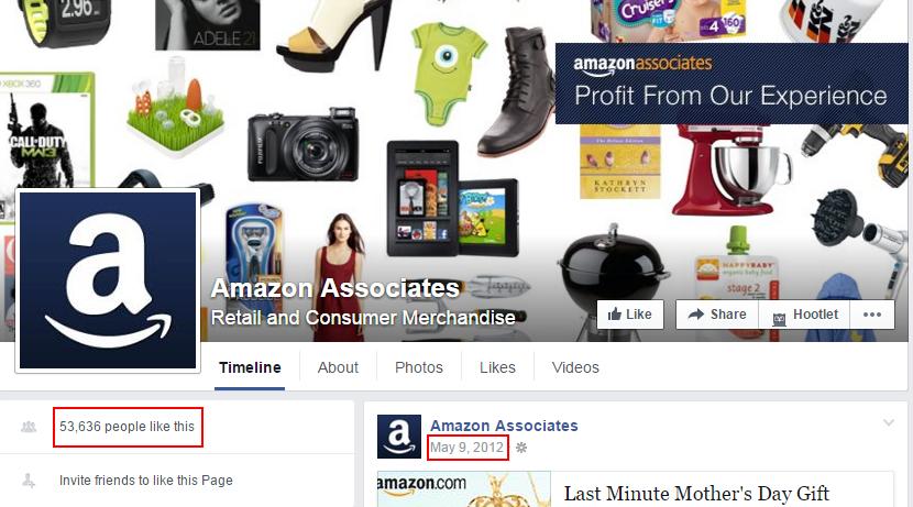 amazon associate group on facebook
